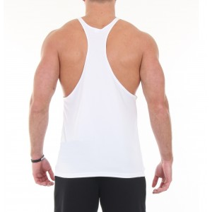 Stickman Gymwear Patch Singlet - White