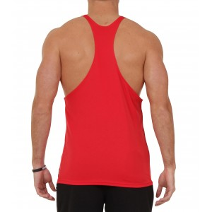 Stickman Gymwear Patch Singlet - Red - SOLD OUT