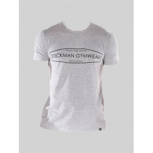 Stickman Gymwear Panel T-Shirt - Grey